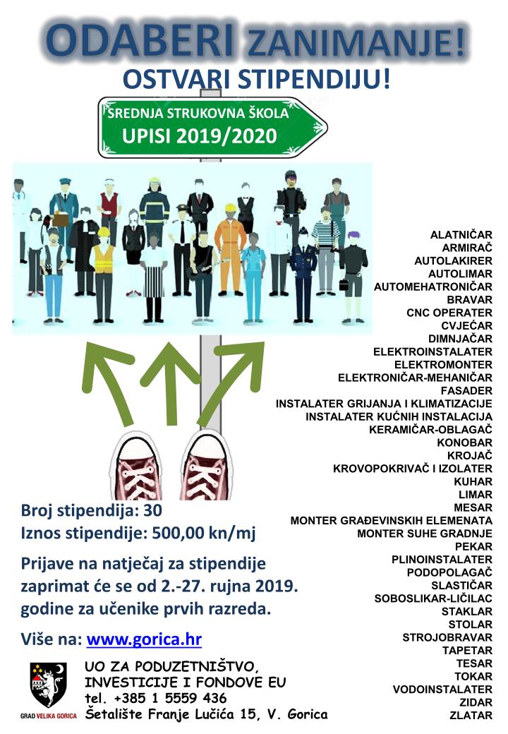 Deficitarna zanimanja - stipendije Grad Velika Gorica