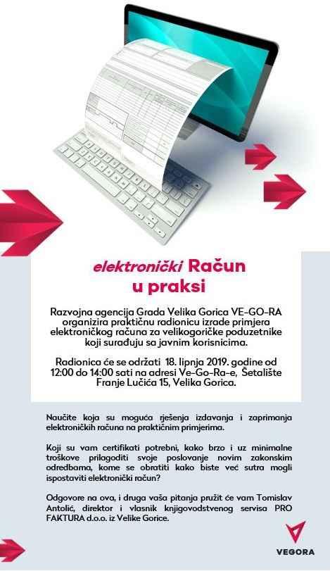 Radionica elektronički račun u praksi - VEGORA