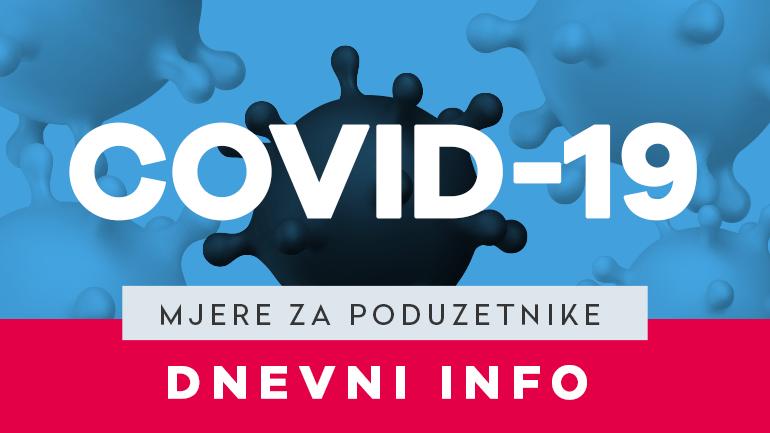 MJERE ZA PODUZETNIKE - VEGORA - COVID-19 - VELIKA GORICA - DNEVNI INFO