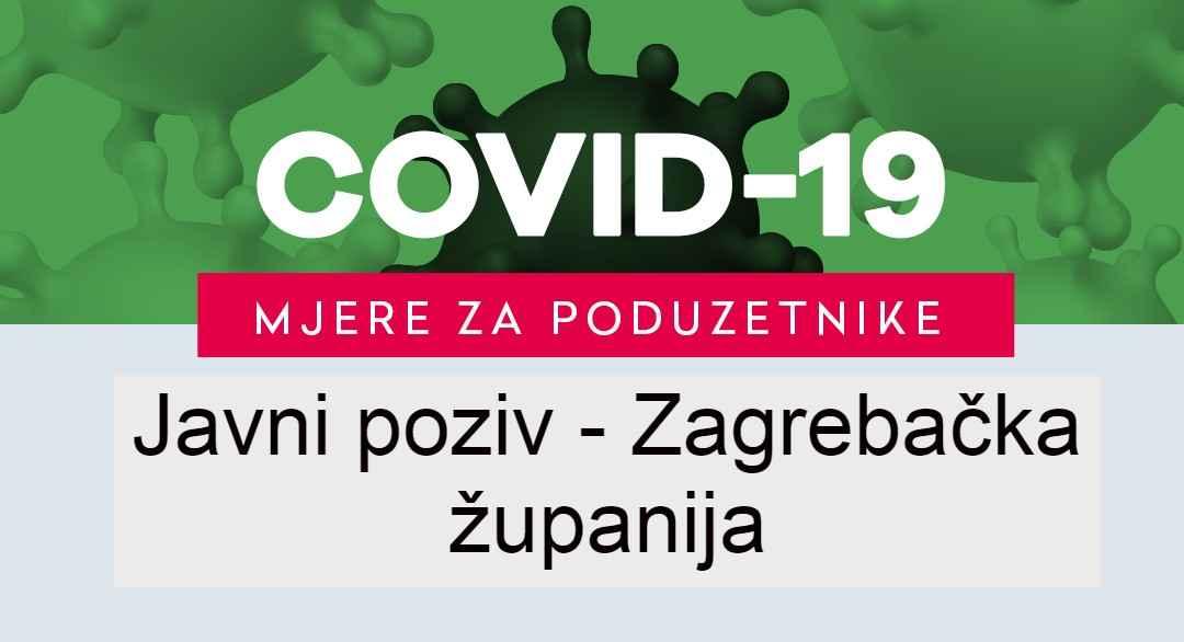 Javni poziv - Zagrebačka županija - Razvojna agencija Grada Velika Gorica - VE-GO-RA - COVID-19 - MJERE