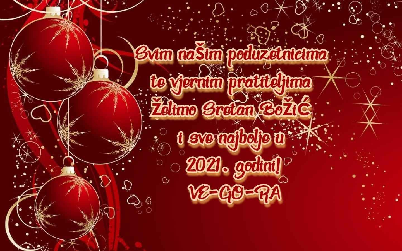 Sretan Božić i Novu godinu - VE-GO-RA